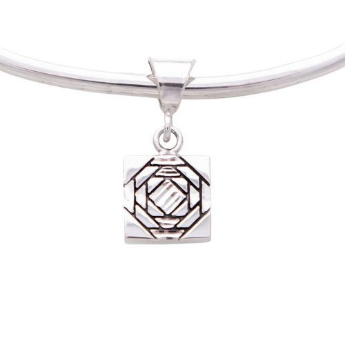 Friendship Pineapple Quilt Jewelry Charm in Sterling Silver Siesta Silver Jewelry