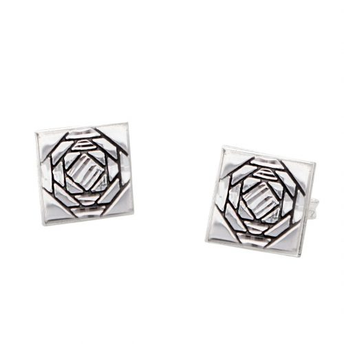 Friendship Pineapple Quilt Jewelry Post Earrings in Sterling Silver Siesta Silver Jewelry