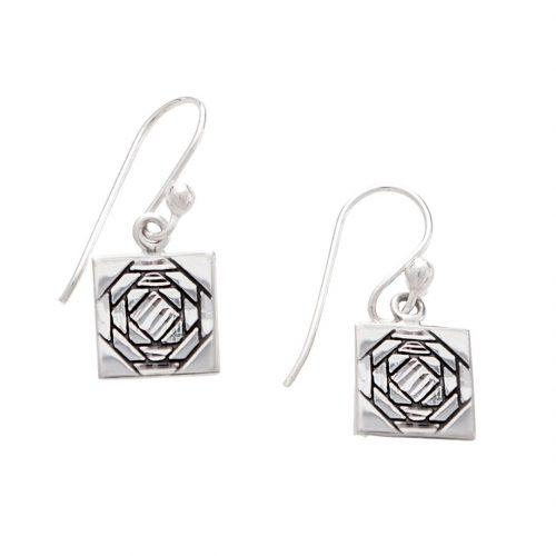 Friendship Pineapple Quilt Jewelry Hook Earrings Siesta Silver Jewelry