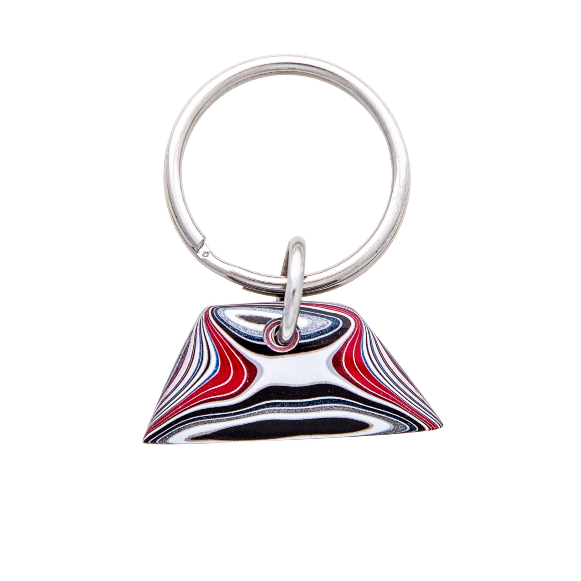 Siesta Silver Jewelry Fordite Key Chain Detroit Agate Automotive Gift