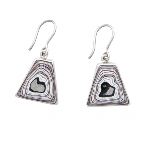 Fordite Hook Earrings EFordH0051 Siesta Silver Jewelry