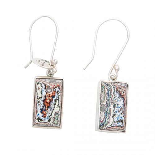 Fordite Vintage Hook Earrings EHVint0006 Siesta Silver Jewelry