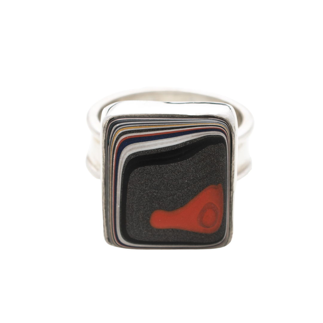Fordite Jeep Paint Ring in Sterling Silver RJeep8E Siesta Silver Jewelry