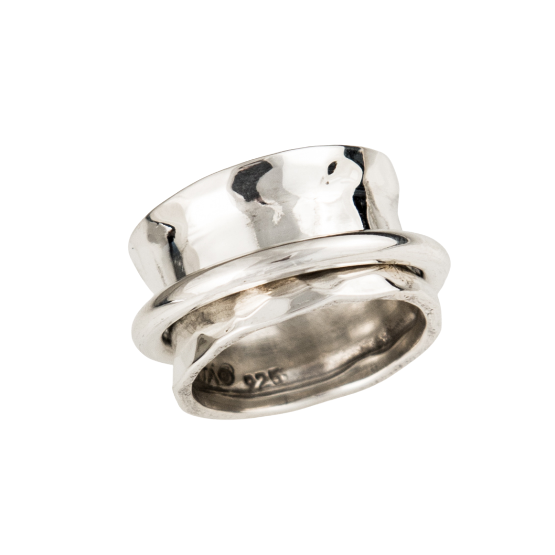 Siesta Silver Jewelry Ring Around the Ring Statement Spinner Ring R7471